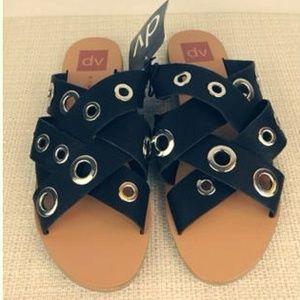 DV Dolce Vita Adrianna Grommet Slide Sandals 8.5